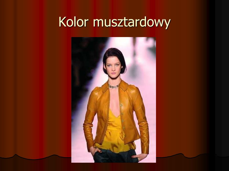Kolor musztardowy