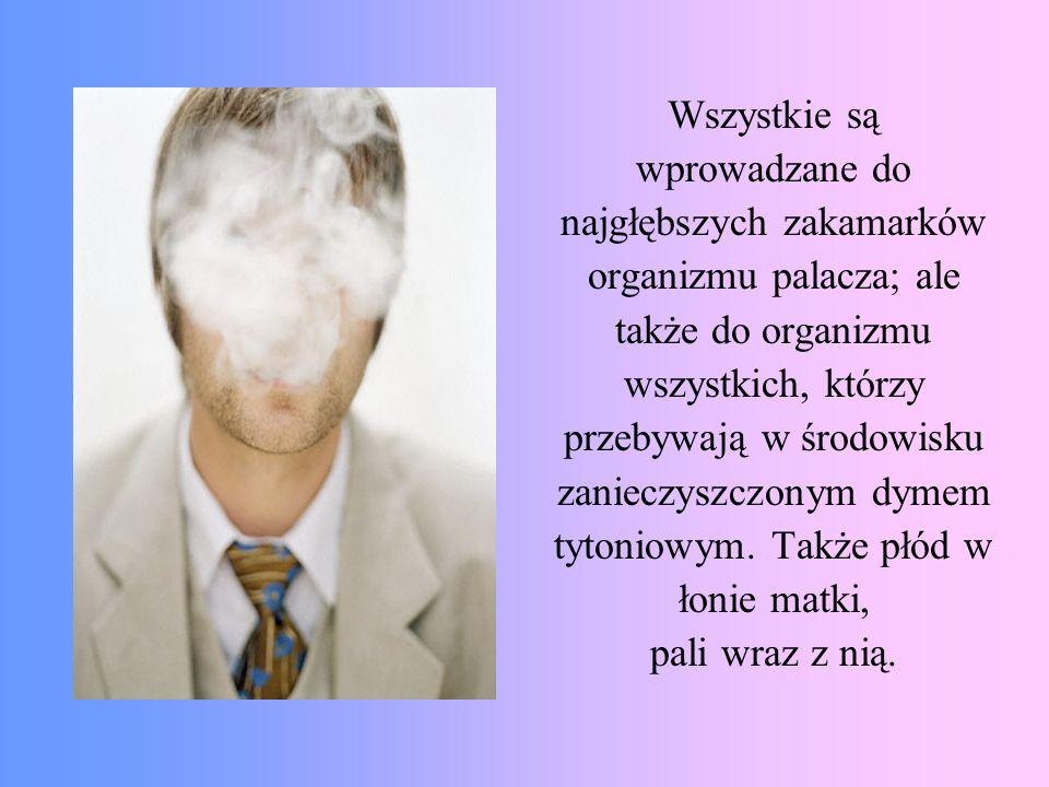 najgłębszych zakamarków organizmu palacza; ale także do organizmu