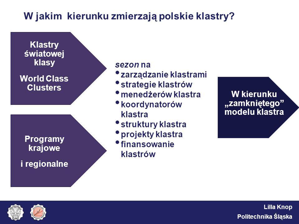W jakim kierunku zmierzają polskie klastry