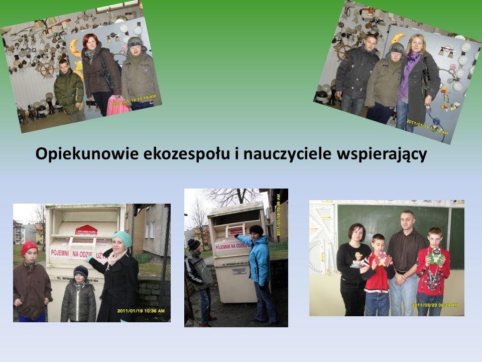 Opiekunowie ekozespołu i nauczyciele wspierający