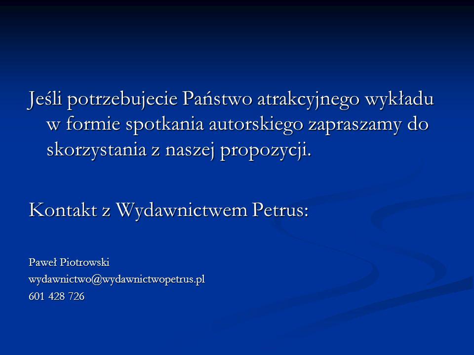 Kontakt z Wydawnictwem Petrus: