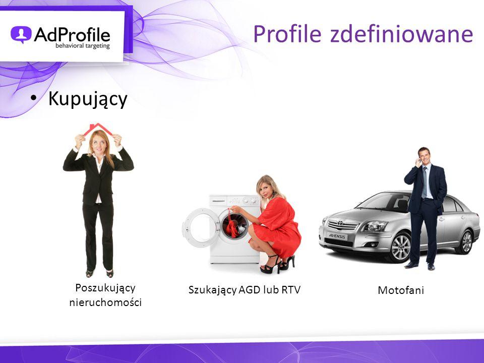 Profile zdefiniowane Kupujący Poszukujący Szukający AGD lub RTV