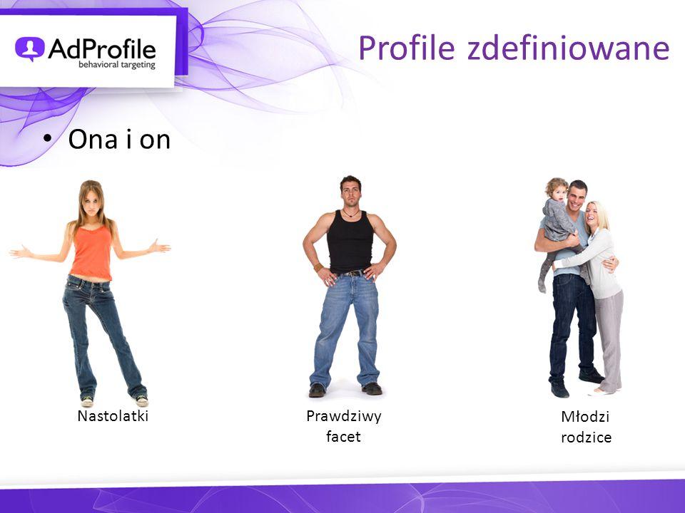 Profile zdefiniowane Ona i on Nastolatki Prawdziwy facet Młodzi