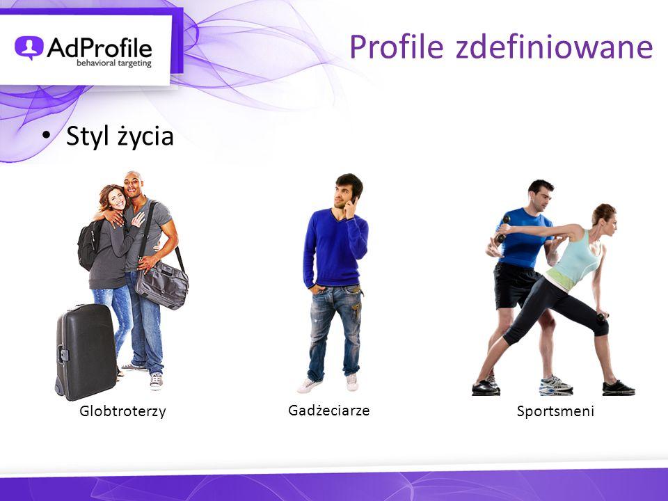 Profile zdefiniowane Styl życia Globtroterzy Gadżeciarze Sportsmeni