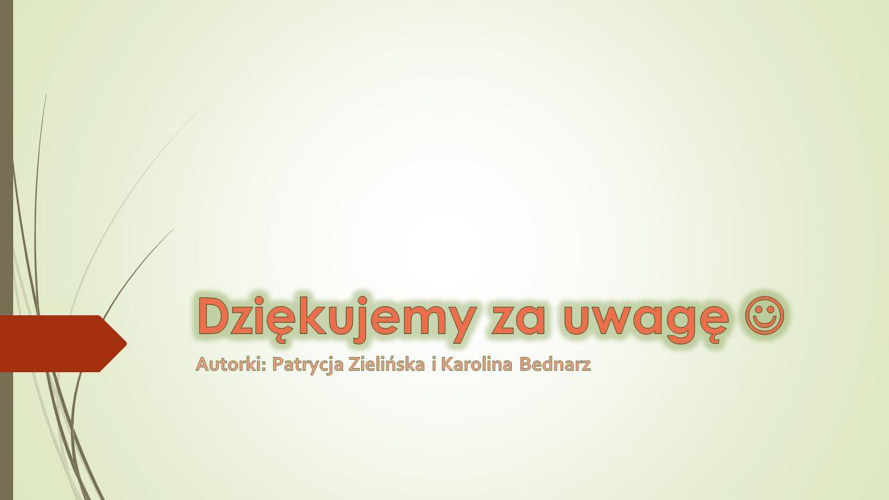 Autorki: Patrycja Zielińska i Karolina Bednarz