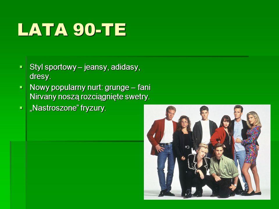 LATA 90-TE Styl sportowy – jeansy, adidasy, dresy.