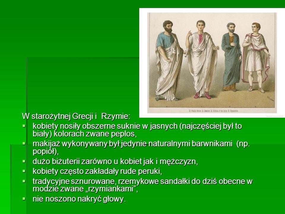 W starożytnej Grecji i Rzymie: