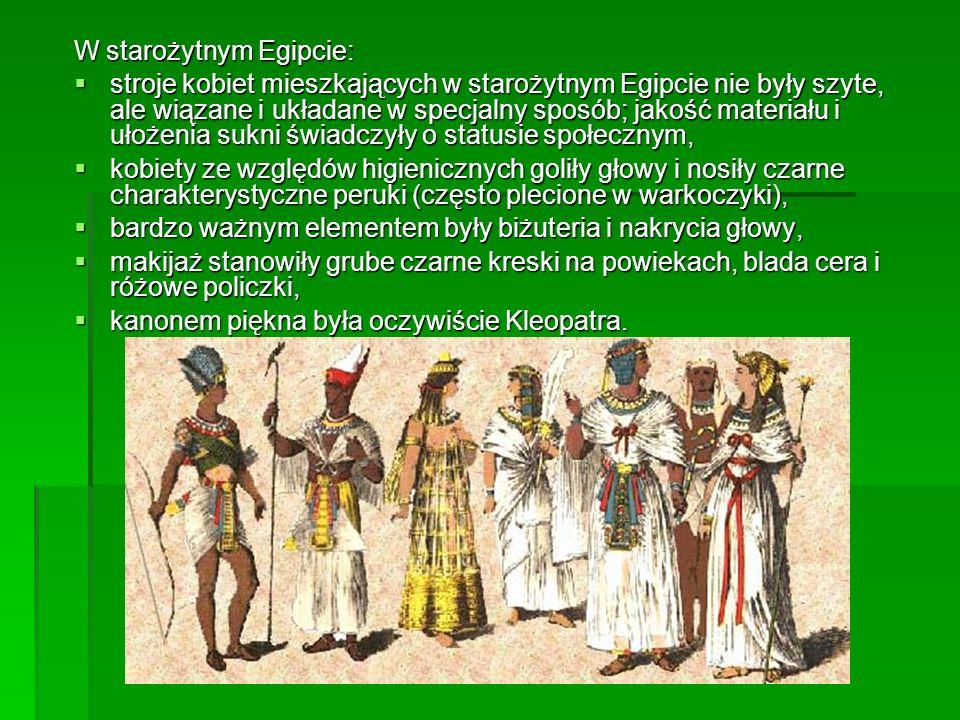 W starożytnym Egipcie: