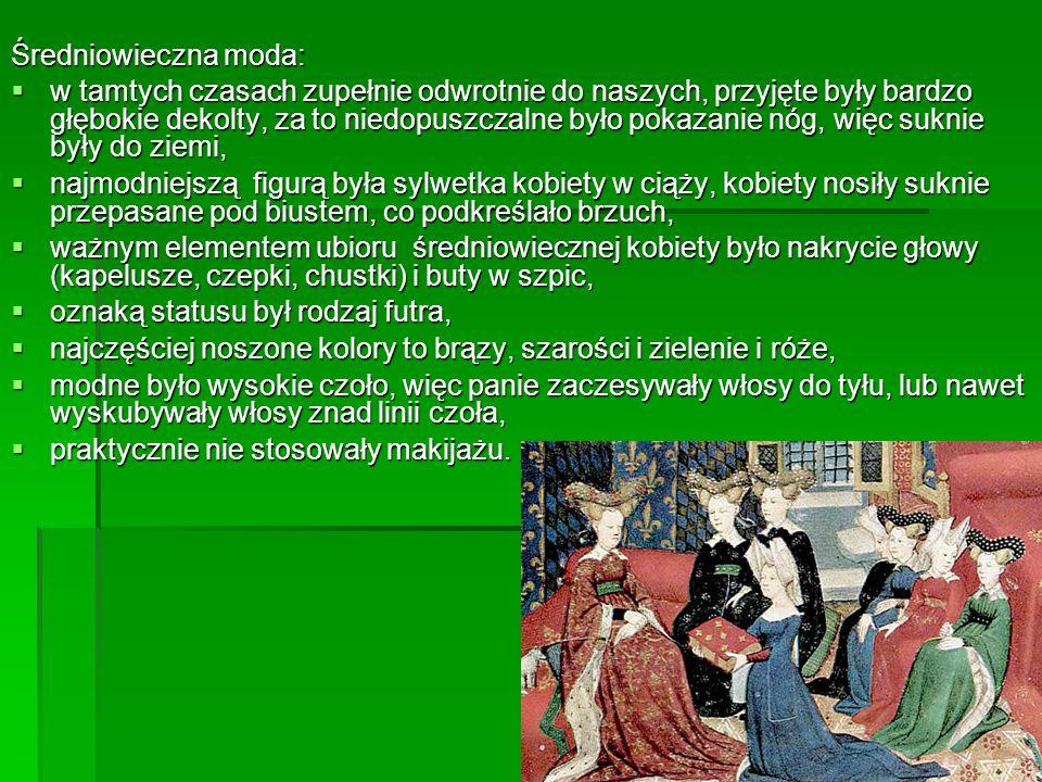 Średniowieczna moda: