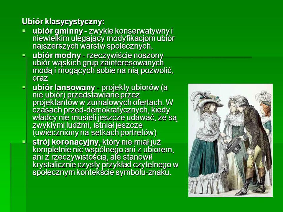 Ubiór klasycystyczny: