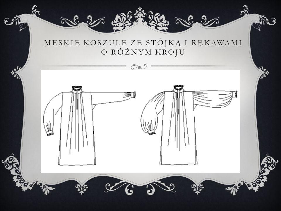Męskie koszule ze stójką i rękawami o różnym kroju