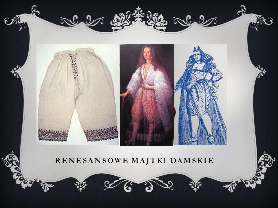Renesansowe majtki damskie