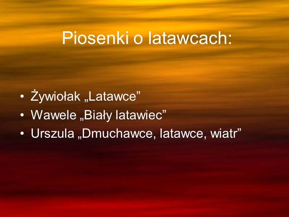"""Piosenki o latawcach: Żywiołak """"Latawce Wawele """"Biały latawiec"""