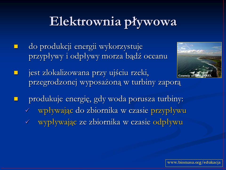Elektrownia pływowa do produkcji energii wykorzystuje przypływy i odpływy morza bądź oceanu.