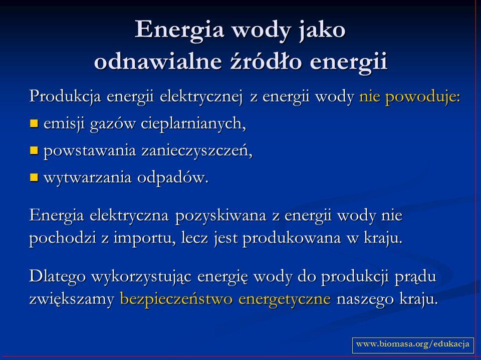 Energia wody jako odnawialne źródło energii