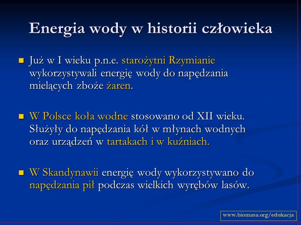 Energia wody w historii człowieka