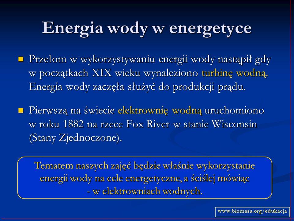 Energia wody w energetyce