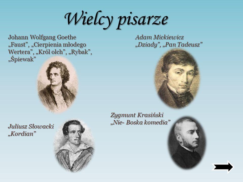 Wielcy pisarze Johann Wolfgang Goethe