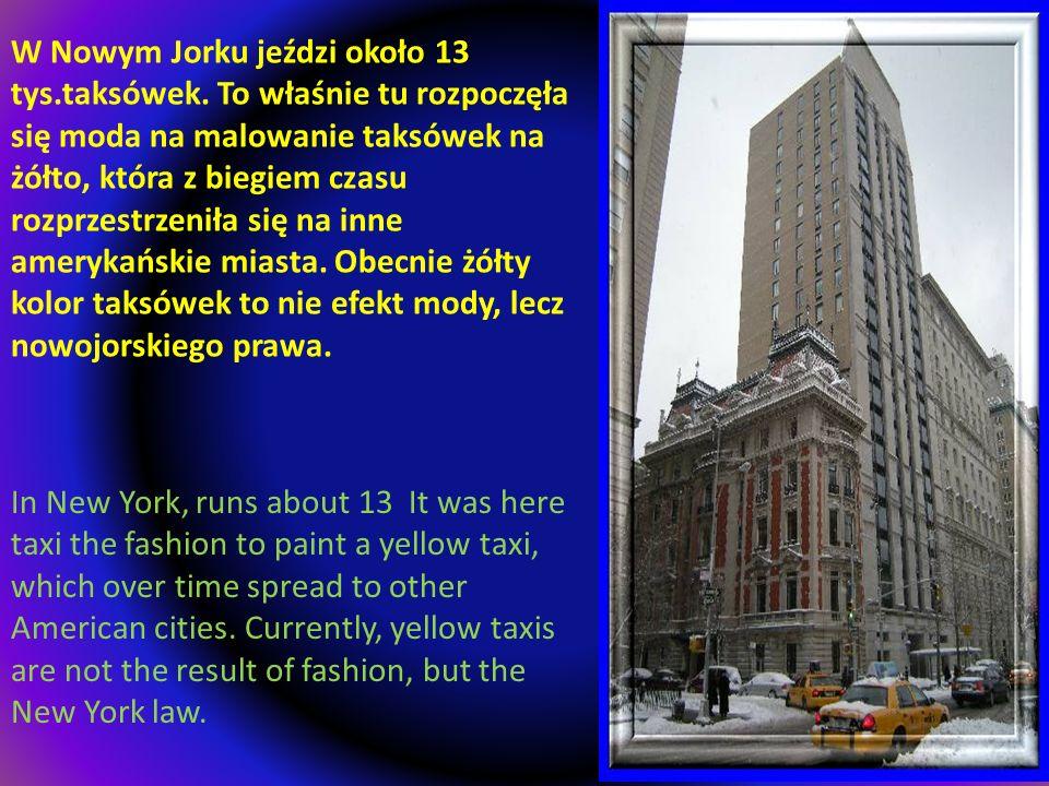 W Nowym Jorku jeździ około 13 tys. taksówek