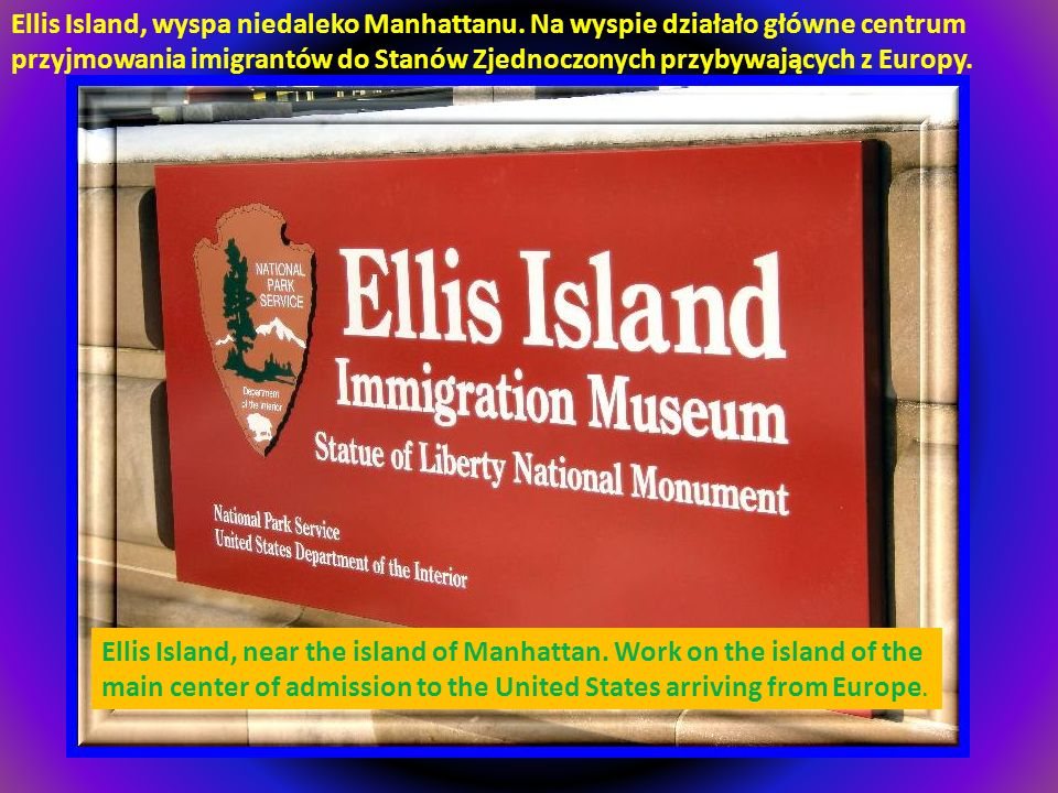 Ellis Island, wyspa niedaleko Manhattanu
