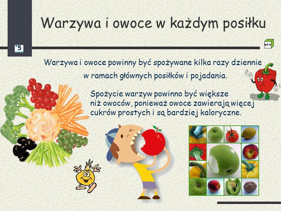 Warzywa i owoce w każdym posiłku