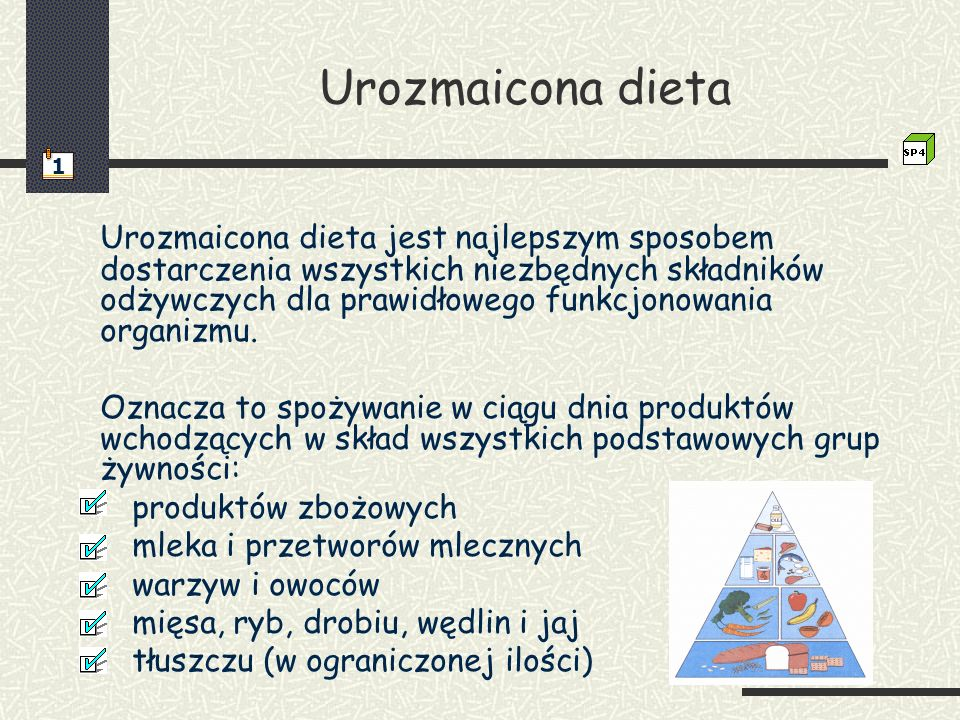 Urozmaicona dieta 1.