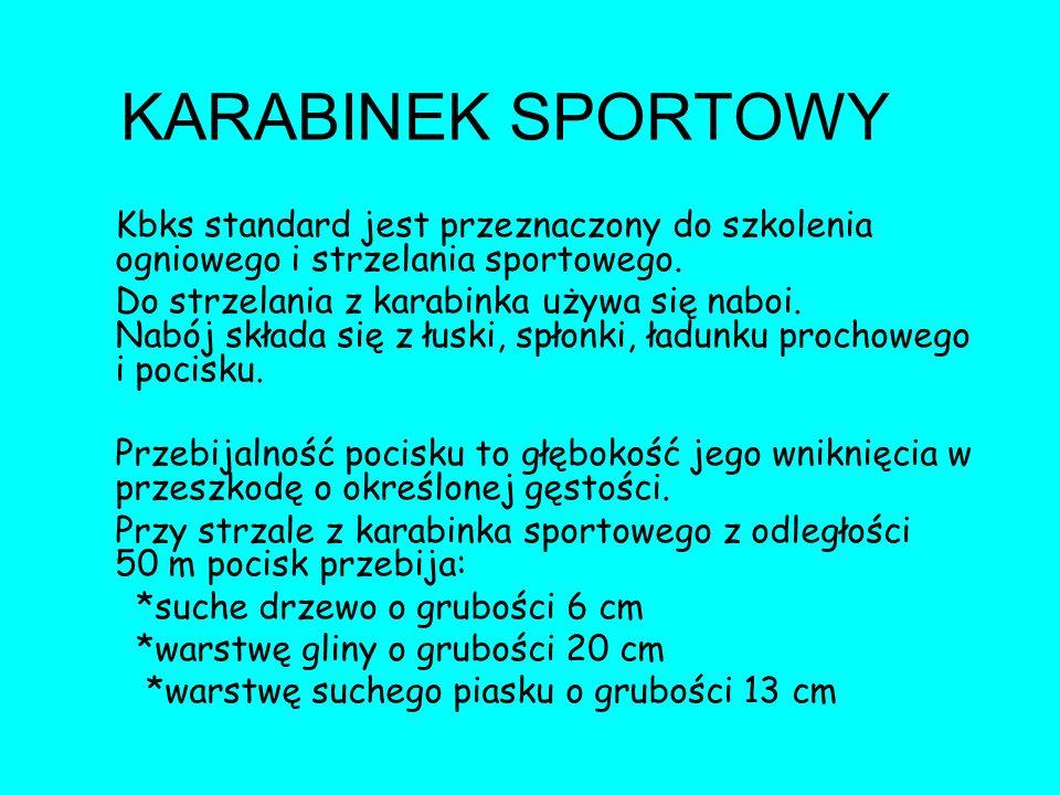 KARABINEK SPORTOWY Kbks standard jest przeznaczony do szkolenia ogniowego i strzelania sportowego.
