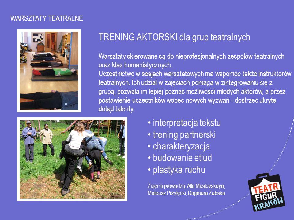 TRENING AKTORSKI dla grup teatralnych