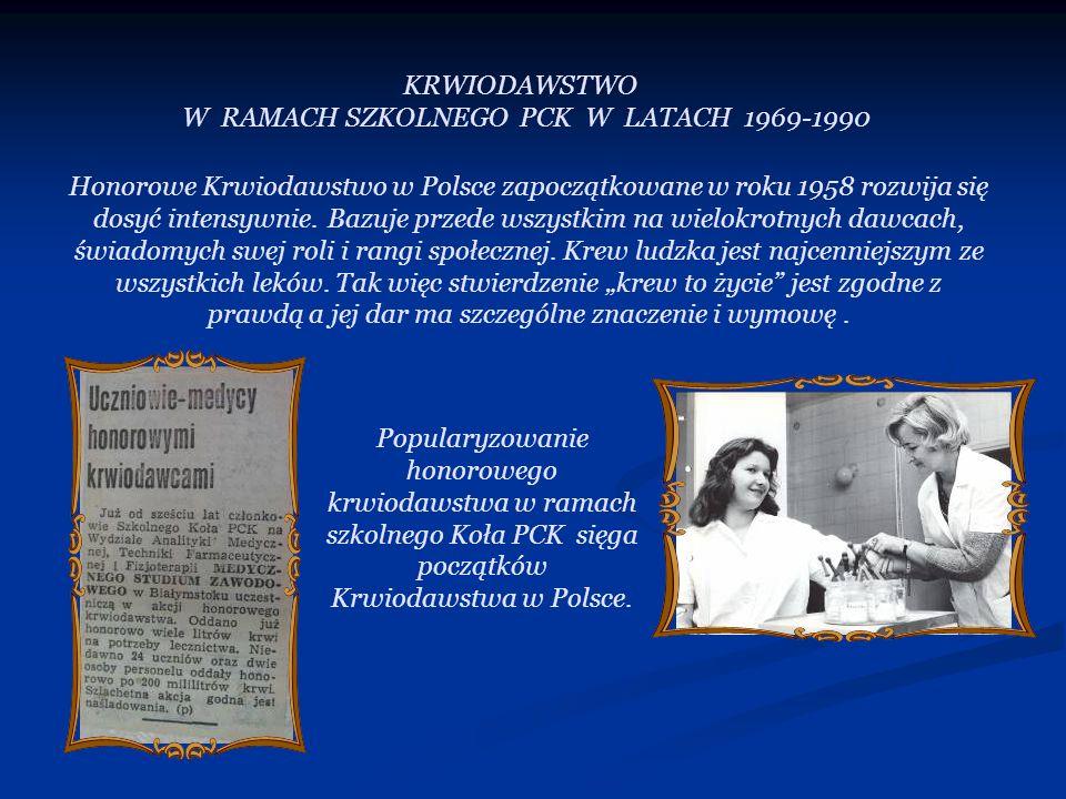 W RAMACH SZKOLNEGO PCK W LATACH 1969-1990