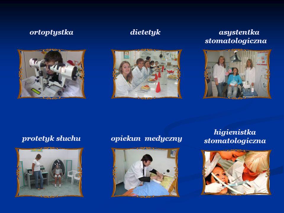 ortoptystka dietetyk asystentka higienistka stomatologiczna