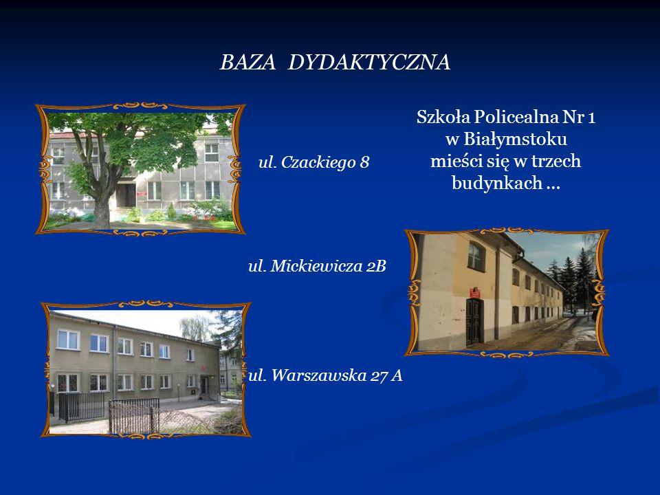 Szkoła Policealna Nr 1 w Białymstoku mieści się w trzech budynkach …