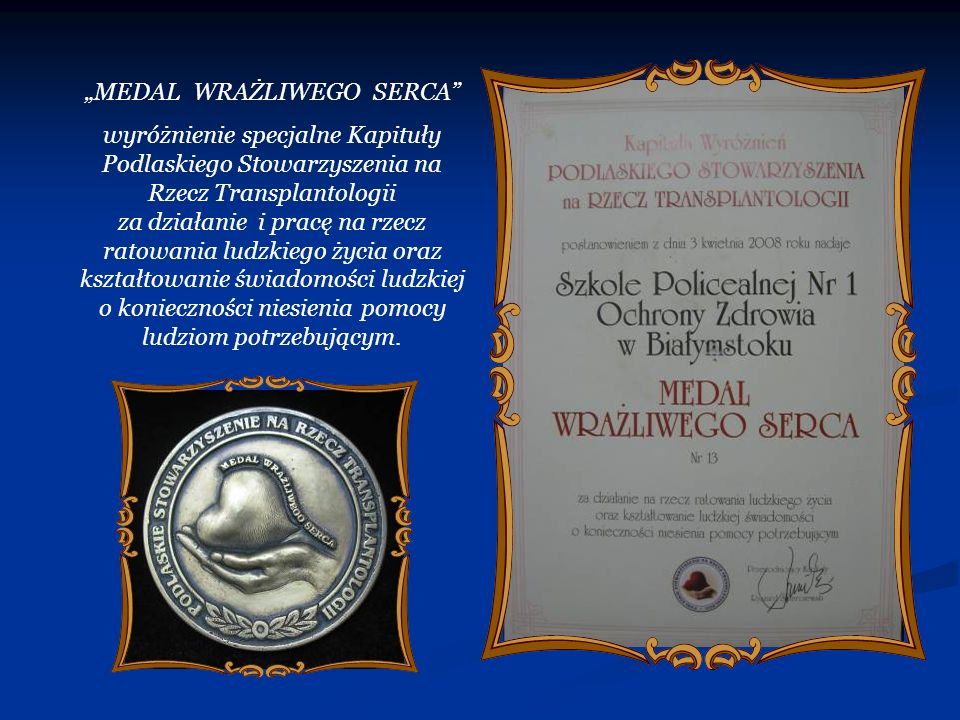 """MEDAL WRAŻLIWEGO SERCA"