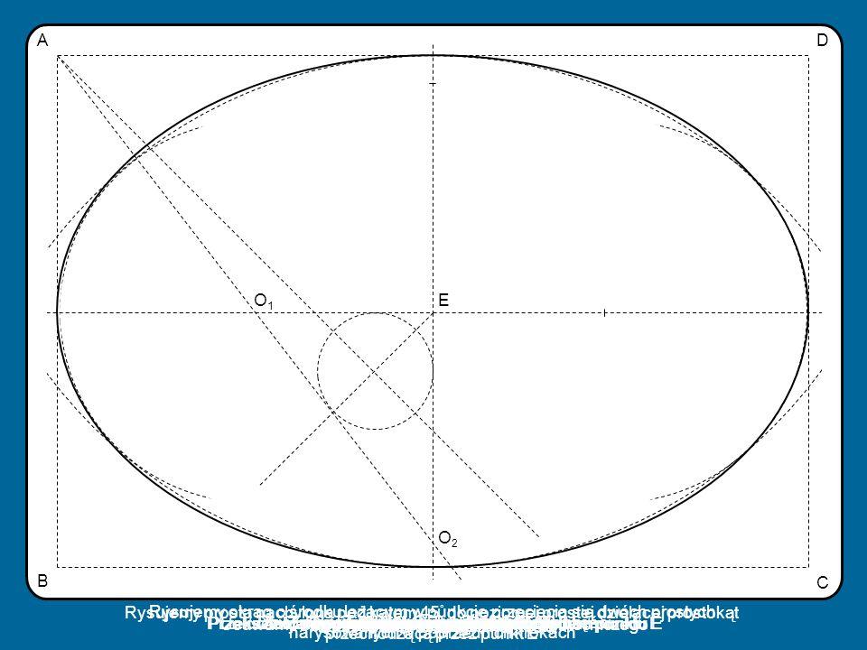 Przekształcamy przez symetrię punkt O2 względem punktu E