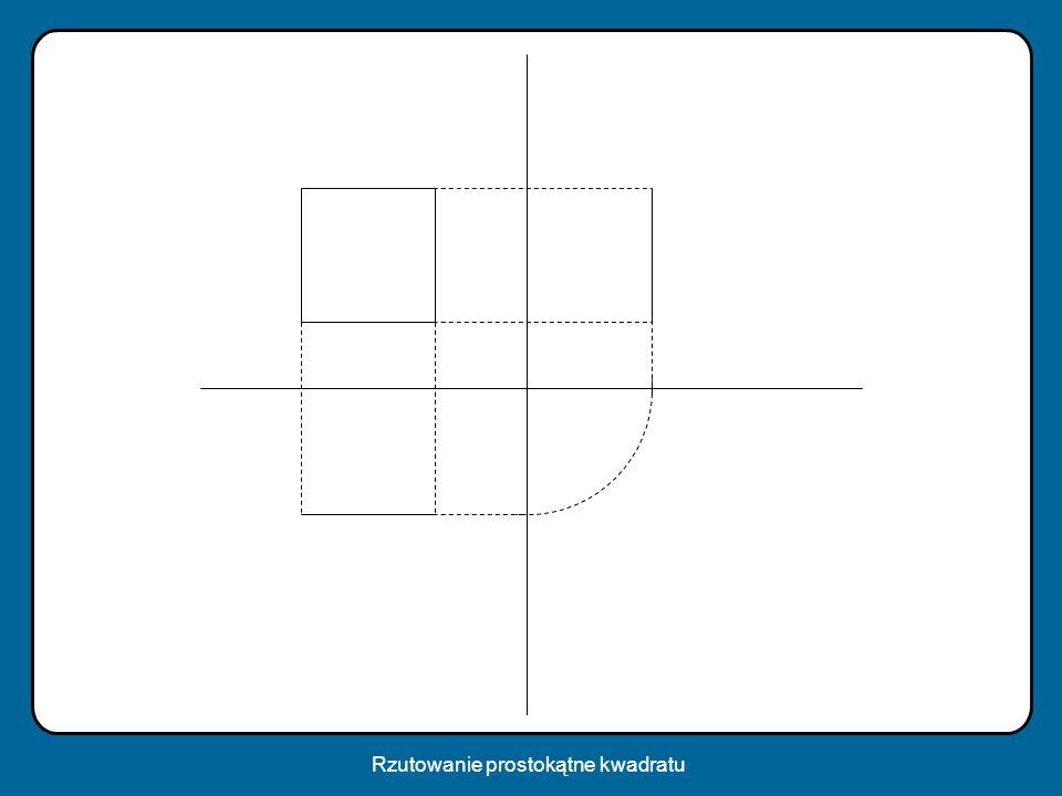 Rzutowanie prostokątne kwadratu