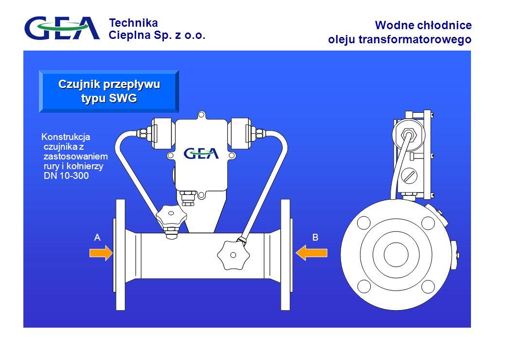 Czujnik przepływu typu SWG
