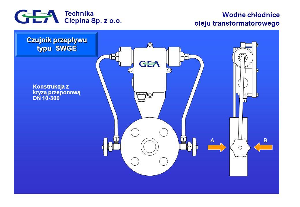 Czujnik przepływu typu SWGE
