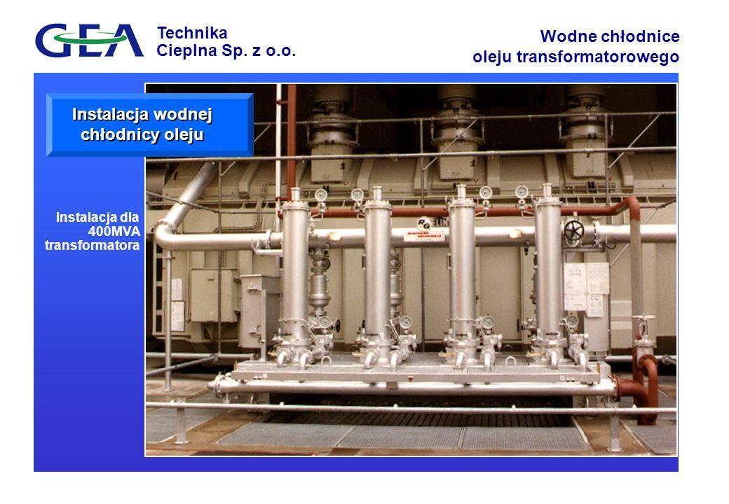 Instalacja wodnej chłodnicy oleju