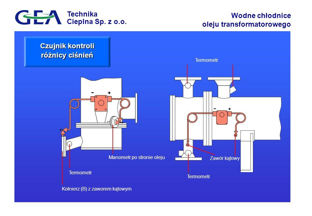 Czujnik kontroli różnicy ciśnień