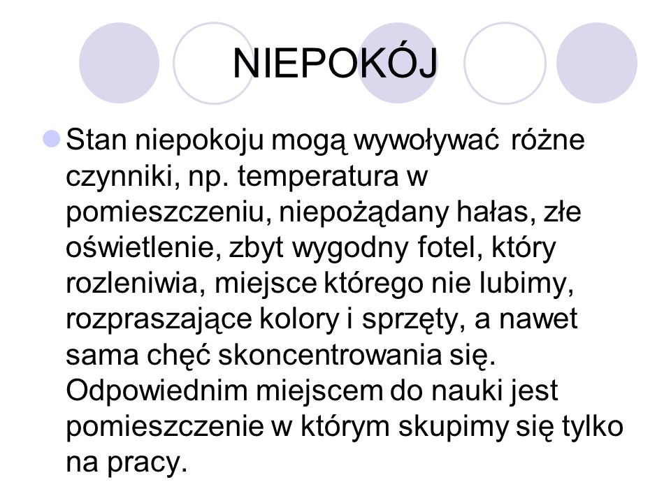 NIEPOKÓJ