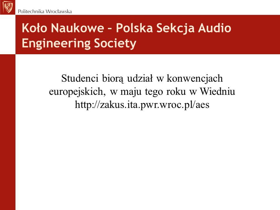 Koło Naukowe – Polska Sekcja Audio Engineering Society