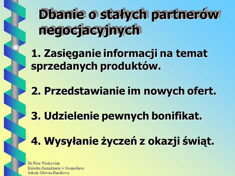 Dbanie o stałych partnerów negocjacyjnych