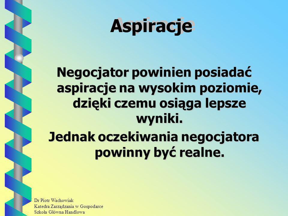 Jednak oczekiwania negocjatora powinny być realne.