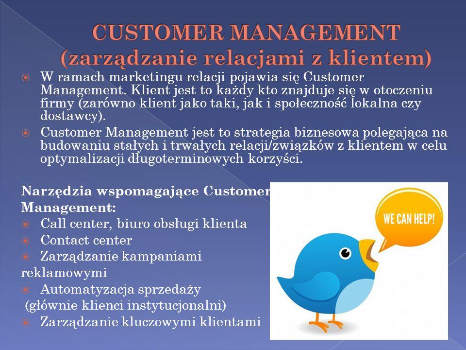 CUSTOMER MANAGEMENT (zarządzanie relacjami z klientem)