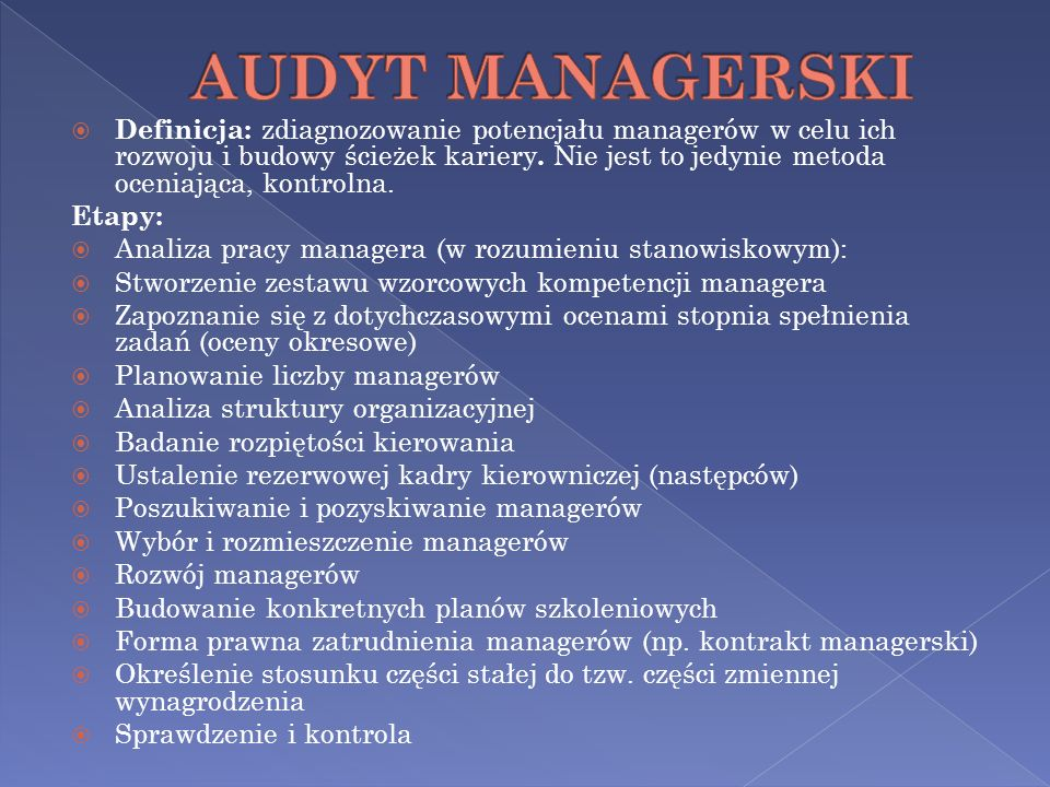 AUDYT MANAGERSKI