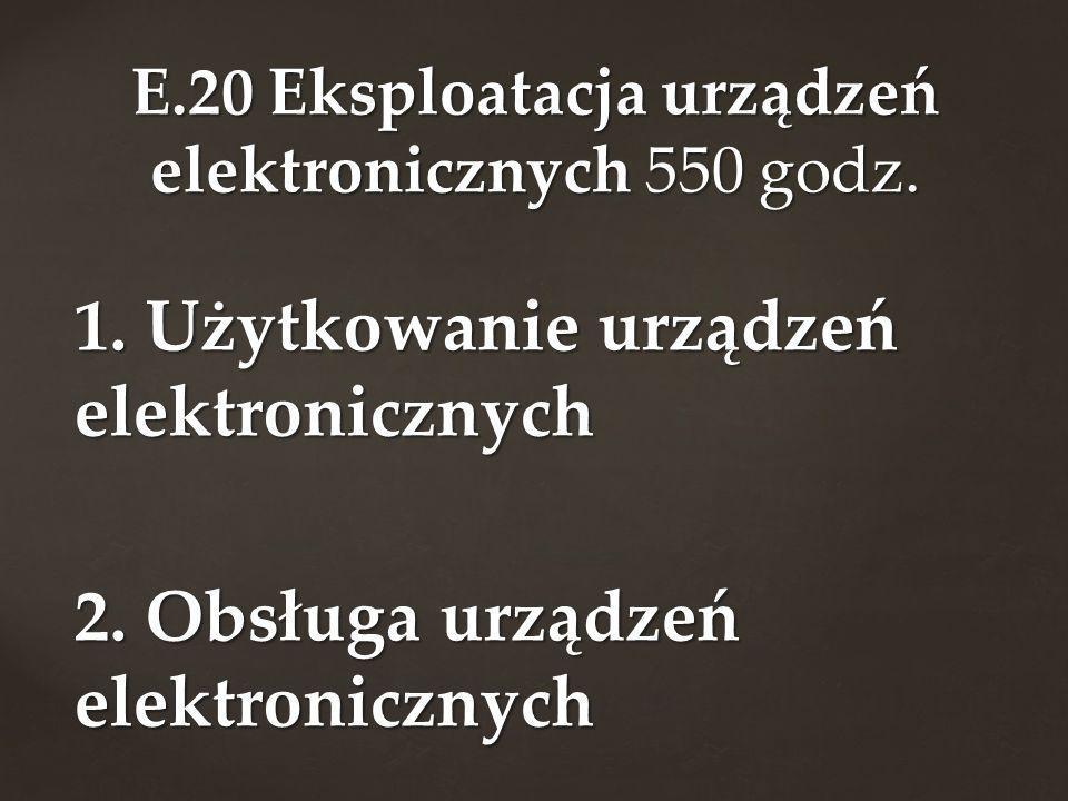 E.20 Eksploatacja urządzeń elektronicznych 550 godz.