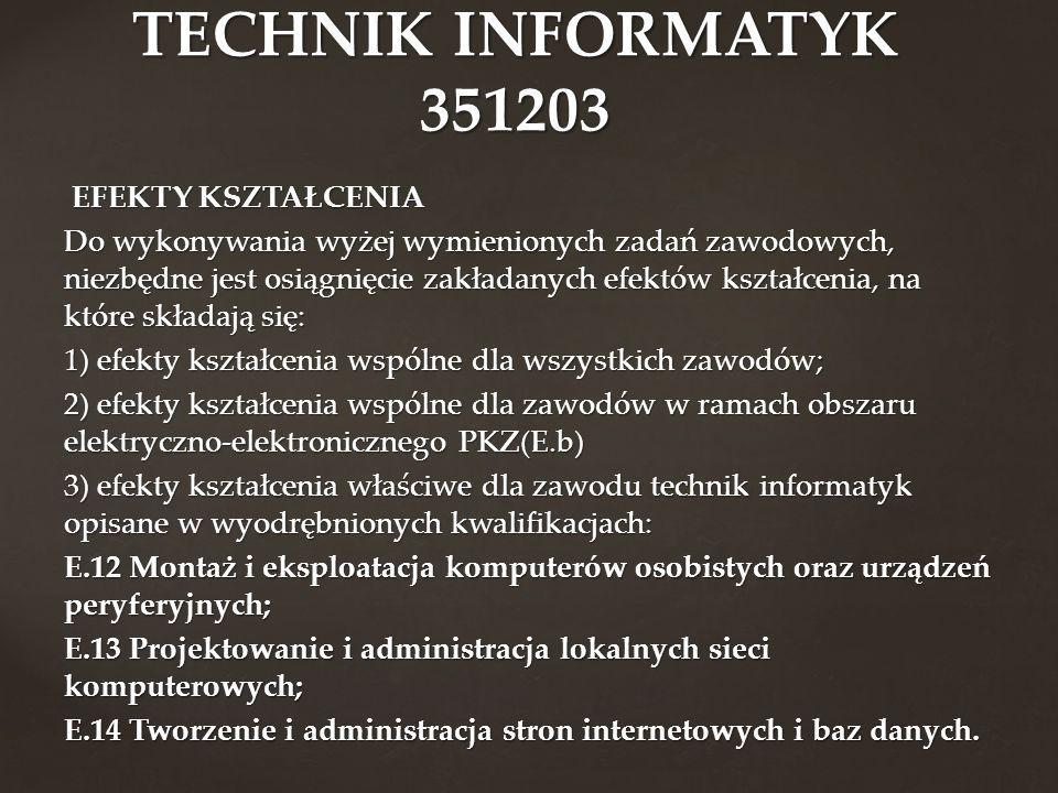 TECHNIK INFORMATYK 351203