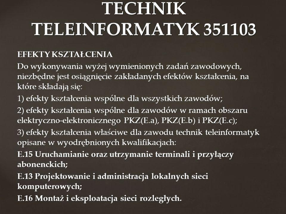 TECHNIK TELEINFORMATYK 351103