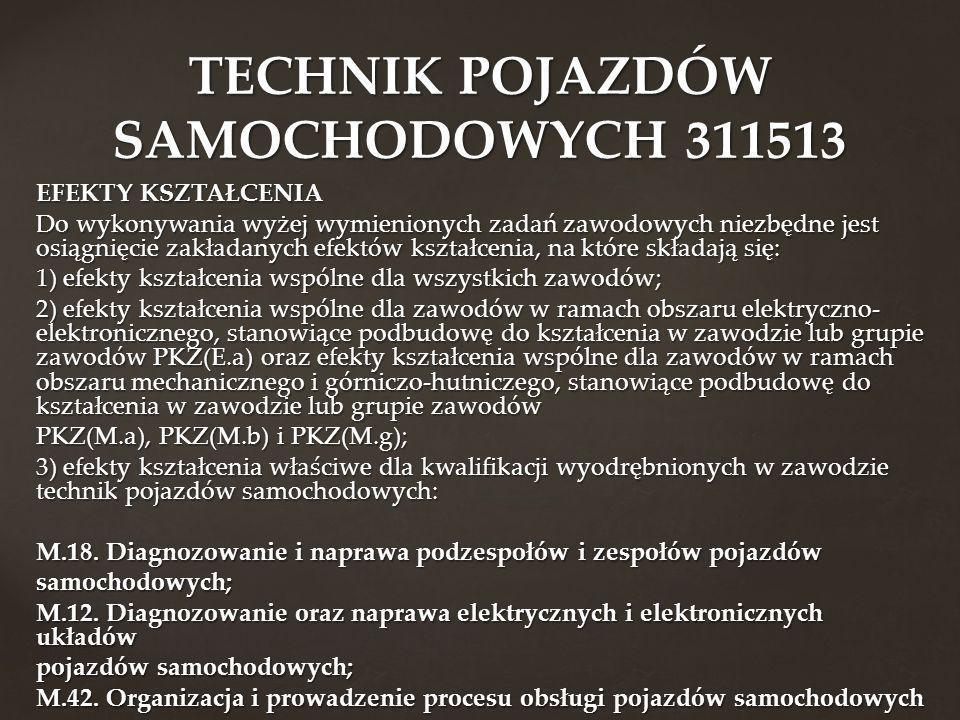 TECHNIK POJAZDÓW SAMOCHODOWYCH 311513
