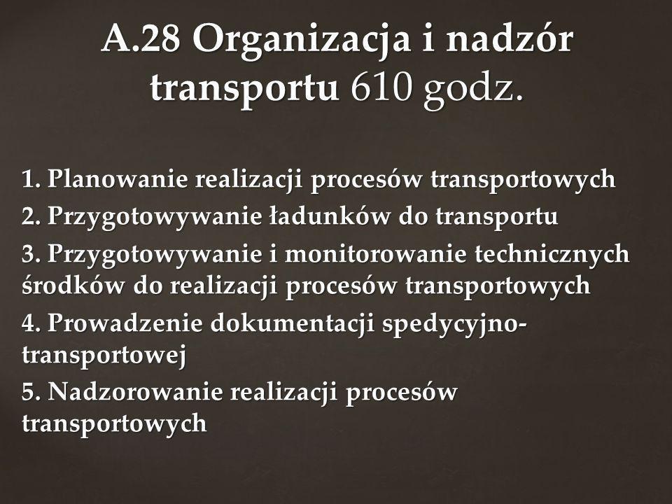A.28 Organizacja i nadzór transportu 610 godz.