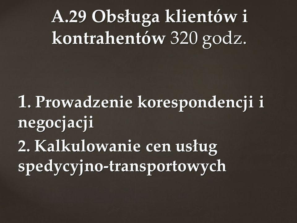 A.29 Obsługa klientów i kontrahentów 320 godz.